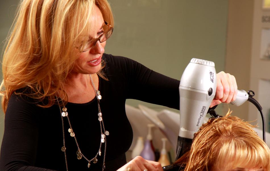 Alison cutting hair