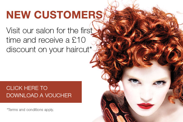 New customers receive £10 discount on your haircut.